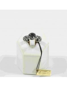 MARIA E LUISA anello prasiolite in argento mis. 16