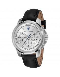 Orologio Maserati successo silver dial black
