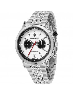 Orologio Maserati legend white dial chrono