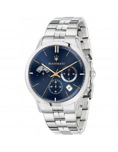 Orologio Maserati ricordo marroncino, blu e acciaio