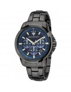 Orologio Maserati successo acciaio con dettagli blu