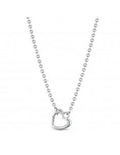 Collana Lock Your Love - moschettone cuore argento - LE BEBE'