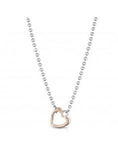 Collana Lock Your Love - moschettone cuore oro rosa - LE BEBE'