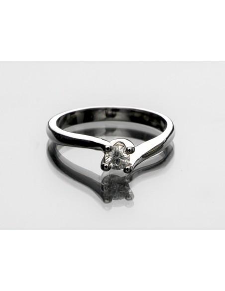 anello solitario Firenze Luxury diamante kt. 0,16 Opera Italiana Jewellery