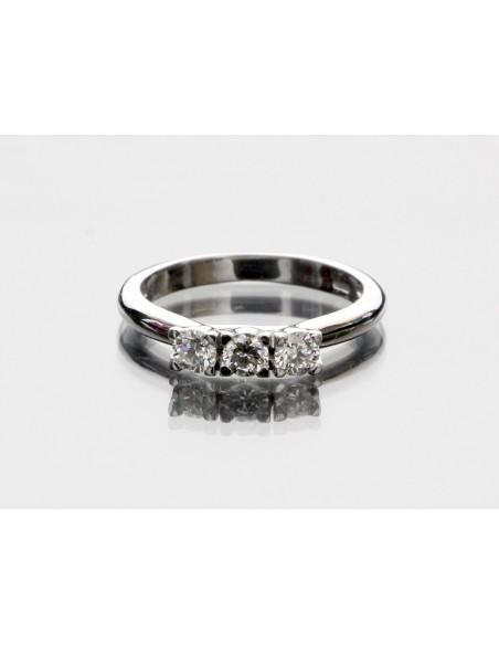 anello trilogy New York diamanti kt. 0,18 Opera Italiana Jewellery