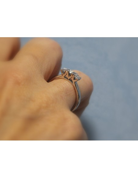 anello trilogy London diamanti kt. 0,51 Opera Italiana Jewellery