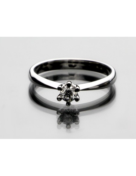 Anello solitario Pisa Luxury diamante kt. 0,07 Opera Italiana Jewellery