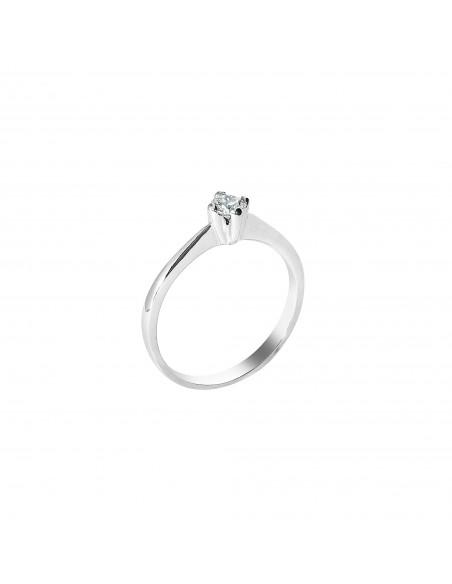 anello solitario Genova diamante kt. 0,28 Opera Italiana Jewellery