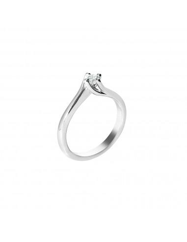 anello solitario Cagliari Luxury diamante kt. 0,12 Opera Italiana Jewellery