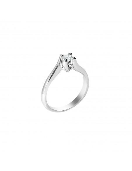 anello solitario Firenze Luxury diamante kt. 0,20 Opera Italiana Jewellery