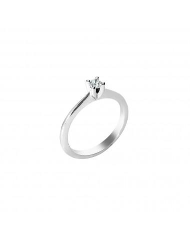 anello solitario Roma Luxury diamante kt. 0,28 Opera Italiana Jewellery