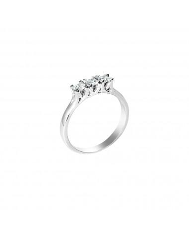Anello trilogy Denver diamanti kt. 0,18 Opera Italiana Jewellery