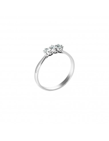 Anello trilogy Parigi diamanti kt. 0,18 Opera Italiana Jewellery