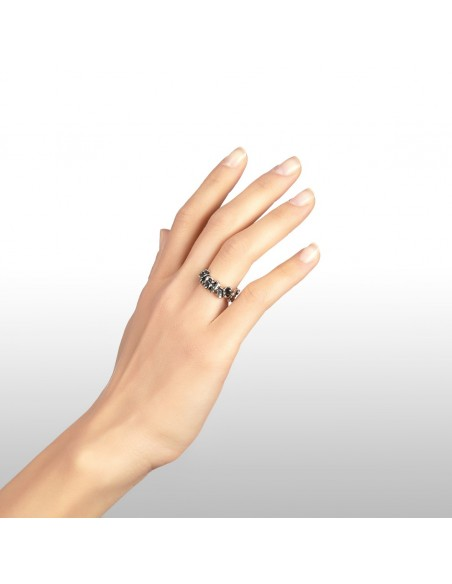 Anello argento fascia Farfalle Giovanni RASPINI