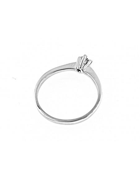 anello solitario Genova diamante kt. 0,12 Opera Italiana Jewellery