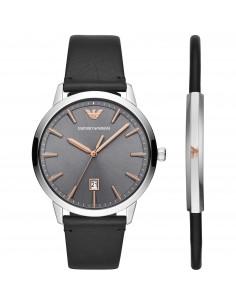 Emporio Armani uomo Ruggero, Set composto da orologio e bracciale da uomo. AR80026