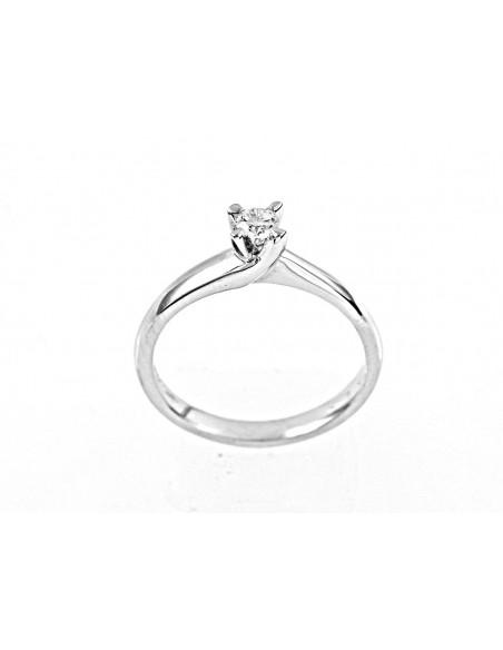 anello solitario Napoli Luxury diamante kt. 0,07 Opera Italiana Jewellery