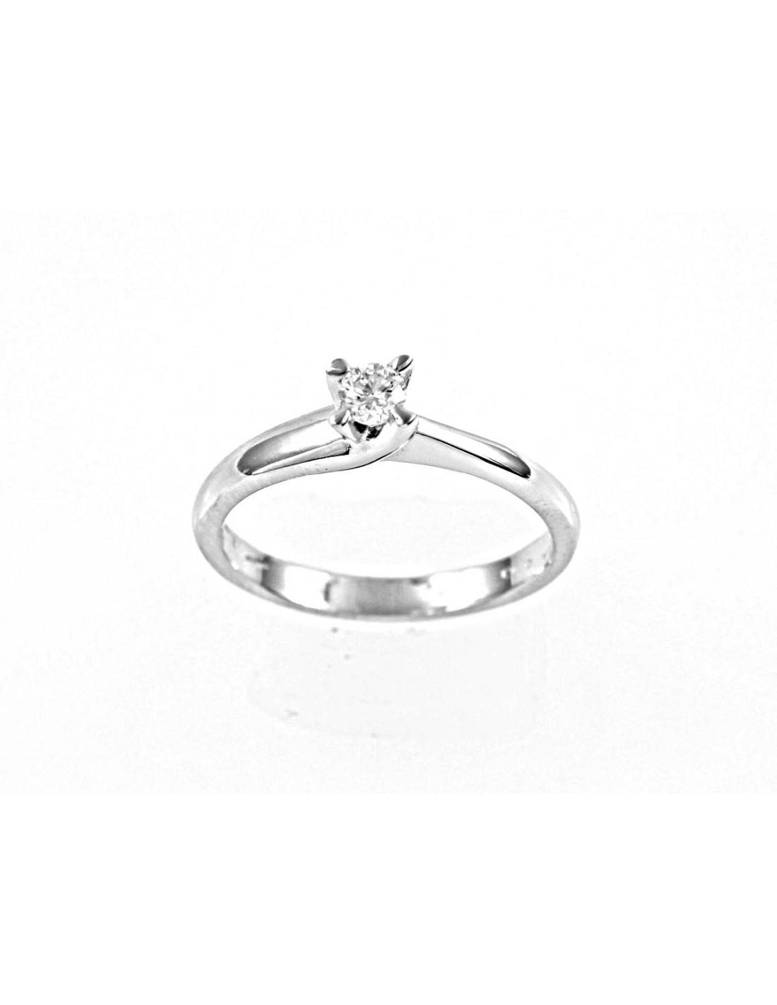a52bda46094e anillo de diamante solitario NAPOLIkt. 0.12 Opera Italiana Jewellery