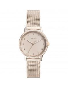 Fossil orologio donna Neely. In acciaio inossidabile di colore rosa con finitura lucida.