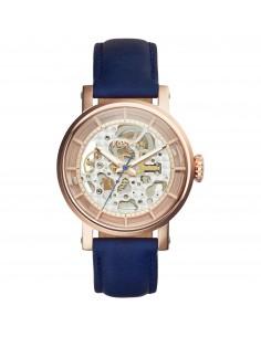 Fossil orologio donna O. Boyfriend A. Cinturino in pelle di colore blu. ME3086