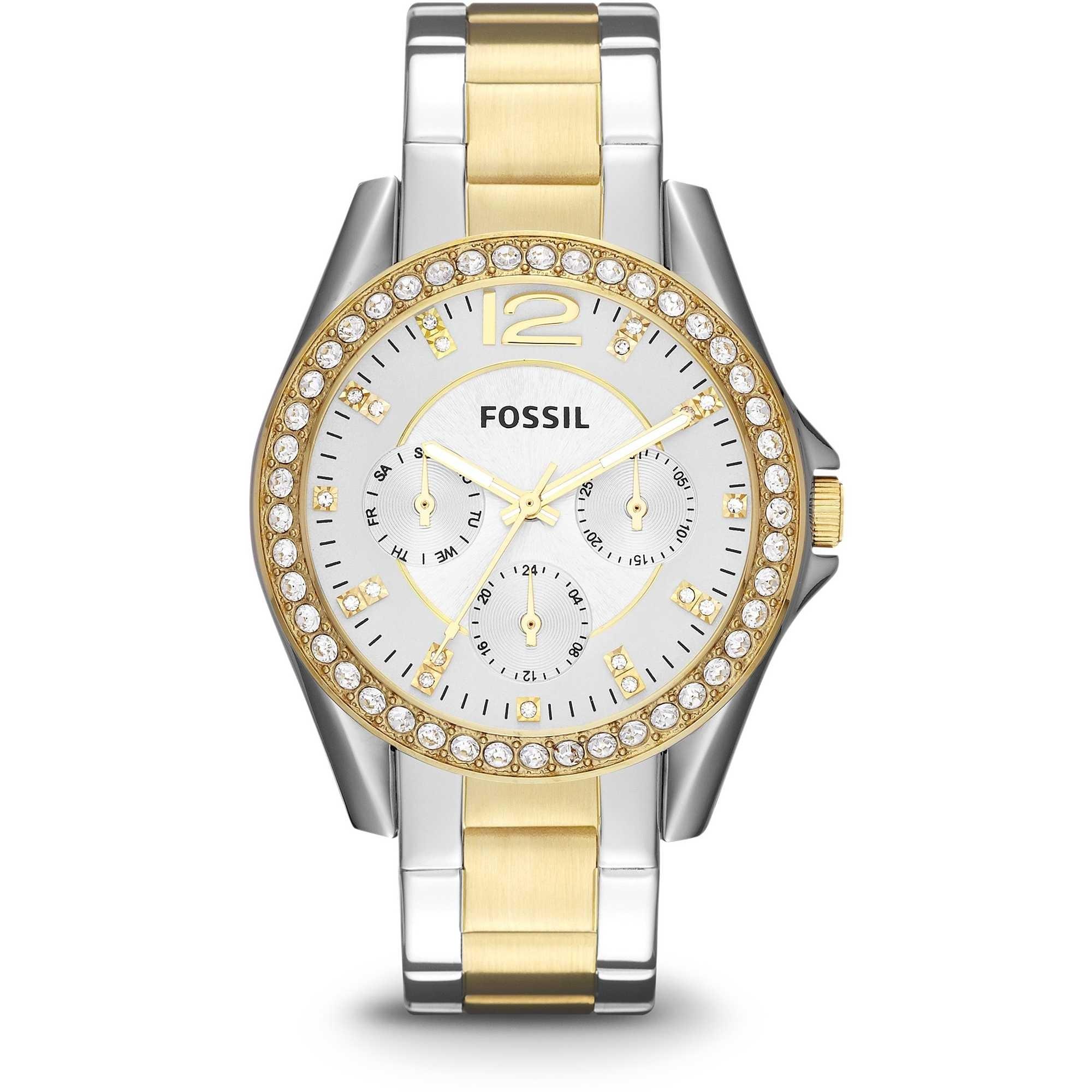 qualità eccellente vendibile godere di un prezzo economico Fossil orologio donna Riley. In acciaio inossidabile bicolore .