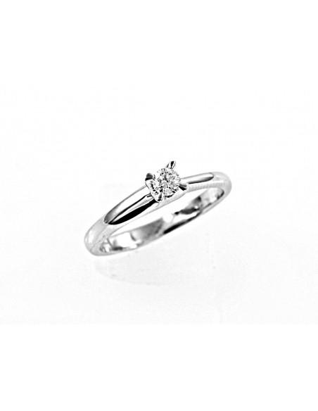 anello solitario Napoli Luxury diamante kt. 0,16 Opera Italiana Jewellery