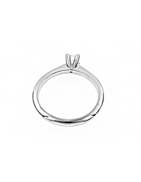 anello solitario Roma Luxury diamante kt. 0,07 Opera Italiana Jewellery