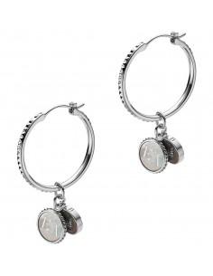 Emporio Armani Orecchini charmed. Gioiello in argento