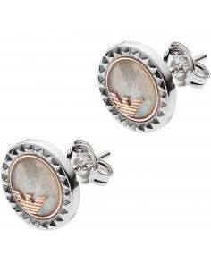 Emporio Armani Orecchini donna caged tondi. Gioiello in argento Emporio Armani Orecchini caged argento