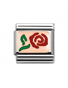 Nomination composable link rosa rossa