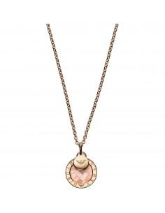 Emporio Armani Collana donna Layered Discs. In argento di colore rose gold