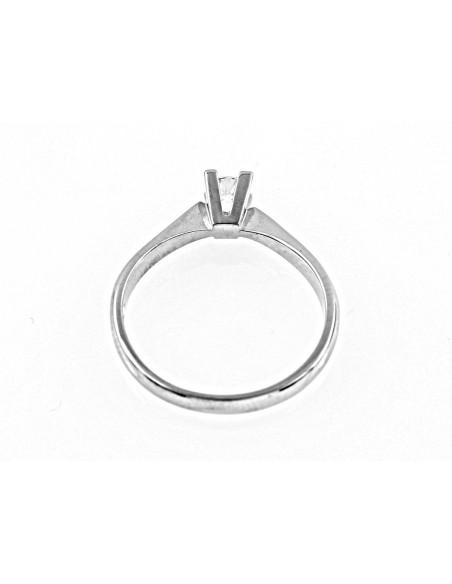 anello solitario Milano Luxury diamante kt. 0,16 Opera Italiana Jewellery