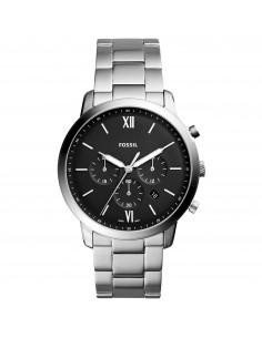 Fossil orologio uomo Neutra Chrono. In acciaio inossidabile . Quadrante di colore nero.FS5384