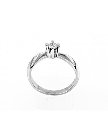 anello solitario Venezia Luxury diamante kt. 0,16 Opera Italiana Jewellery