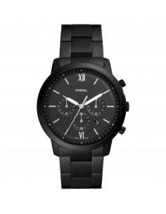 Fossil orologio uomo Neutra Chrono. In acciaio inossidabile con quadrante di colore nero FS5474
