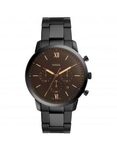 Fossil orologio uomo Neutra Chrono. In acciaio inossidabile di colore nero. Quadrante di colore nero. FS5525