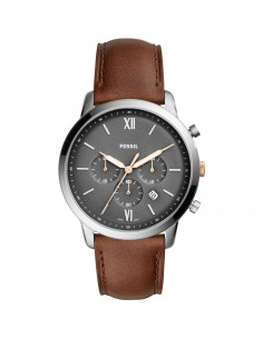 Fossil orologio uomo Neutra Chrono. In acciaio inossidabile. Cinturino in pelle FS5408