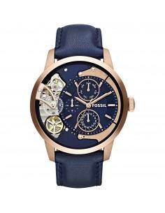 Fossil orologio uomo Townsman A. In acciaio inossidabile di colore rose?. Quadrante blu. ME1138