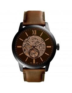 Fossil orologio uomo Townsman A. In acciaio inossidabile nero. Il quadrante e? marrone. ME3155