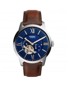 Fossil orologio uomo Townsman A. In acciaio con cinturino in pelle di colore blu notte ME3110