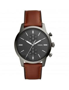 Fossil orologio uomo Townsman. In acciaio inossidabile di colore fume' FS5522