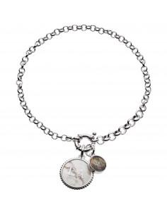Emporio Armani Bracciale donna Charmed. In argento con finitura lucida