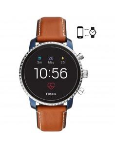 Fossil orologio Smartwacth uomo Explorist HR con finitura mista di colore blu