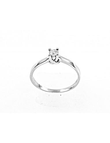 anello solitario Torino diamante kt. 0,16 Opera Italiana Jewellery