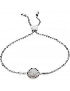 Emporio Armani Bracciale donna caged. Gioiello in argento