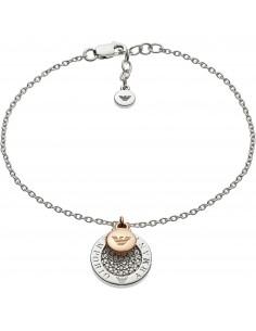 Emporio Armani Bracciale donna Layered Discs. In argento di colore silver