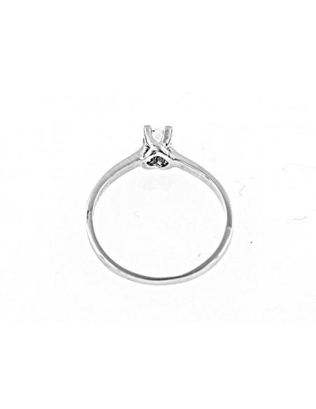 anello solitario Torino diamante kt. 0,20 Opera Italiana Jewellery