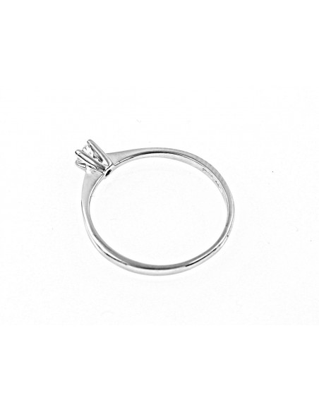 anello solitario Bari diamante kt. 0,12 Opera Italiana Jewellery