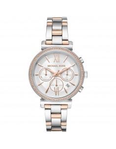 Michael Kors orologio donna Sofie. In acciaio inossidabile di colore rose gold e silver MK6558