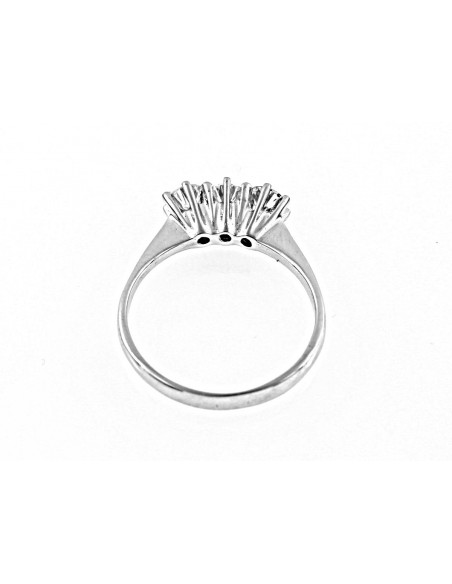 anello trilogy New York diamanti kt. 0,51 Opera Italiana Jewellery
